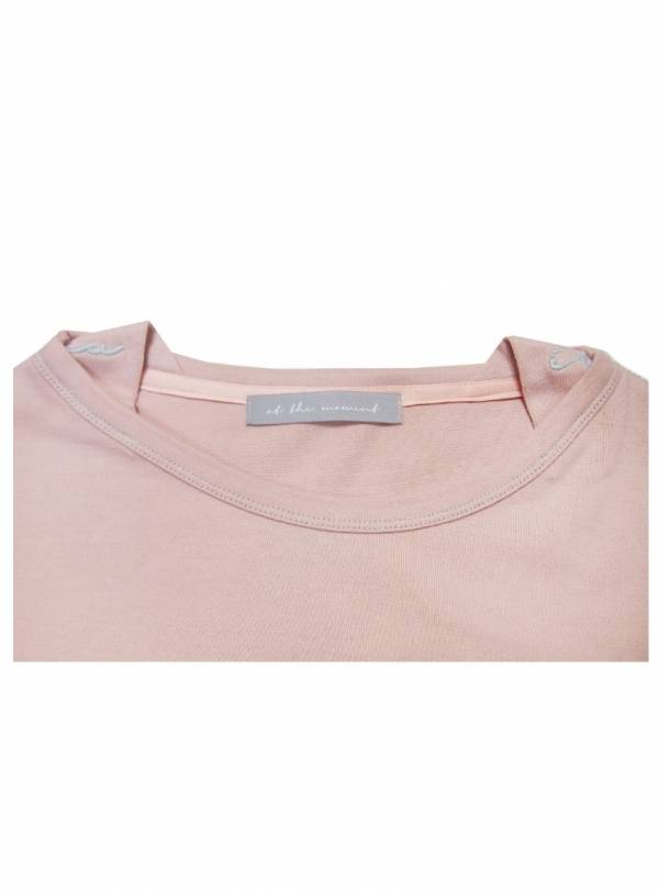 AT THE MOMENT-[At The Moment] Banding T-shirt 3/4 (PINK)