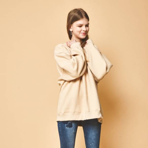 GENERAL COTTON-[General Cotton] Fleece fabric Original Beige