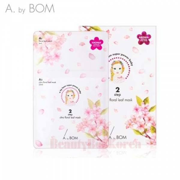 A. by BOM-[A. by BOM] Ultra Floral Leaf Mask A1 6ml + A2 25ml 5EA