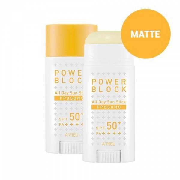 A'PIEU-[A'PIEU] Power Block All Day Sun Stick (Pposong) SPF50+/PA++++
