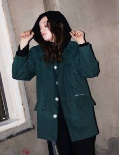 [At The Moment] Padding Single Jacket (GREEN)