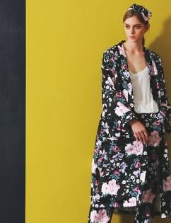 [House Of Renae] LONG SLEEVES MAXI ROBE (VIVID FLORAL)