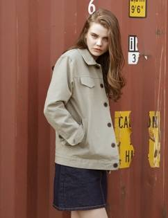 [At The Moment] Cotton Blouson (KHAKI)