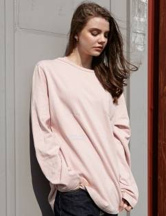 [At The Moment] French T-shirt Long (PINK)