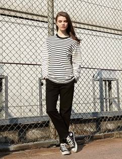 [At The Moment] Stripe Heavy T-shirt