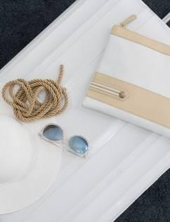 [La Croisanc] Dieppe Military Navy-Clutchbag WHITE
