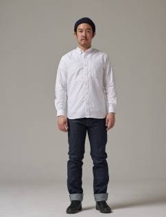 [Twobuildershouse] GIZA COTTON OXFORD WHITE SHIRT
