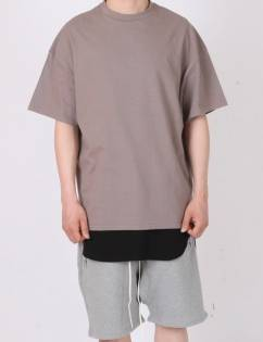 [Fade6] Over Boxy T-Shirt Mocha