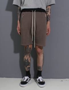 [Fade6] Pocket Zip Shorts Mocha