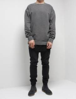 [Fade6] Washed Sweatshirt Grey