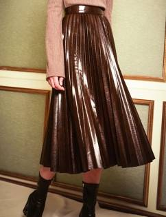 [Fullmoon] Shine Pleats Skirt