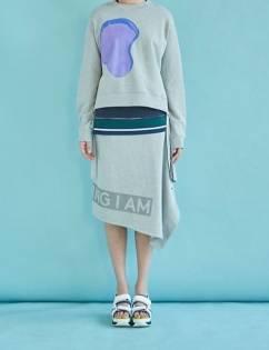 [Aticle Studio] Reflected Print Skirt (2C)