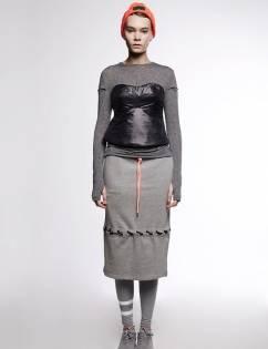 [Aticle Studio] String Detail Sweat Skirt (2C)
