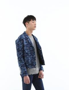 [C-Wear By Genius] Camo Denim Jacket Blue (2C)