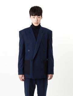 [C-Wear By Genius] FELT JACKET NAVY
