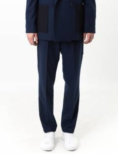 [C-Wear By Genius] FELT SLACKS NAVY
