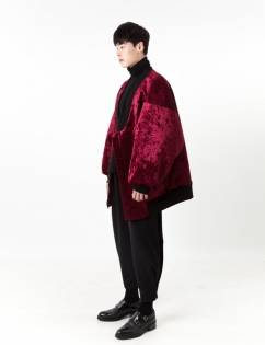 [C-Wear By Genius] OVERSIZE VELVET JUMPER