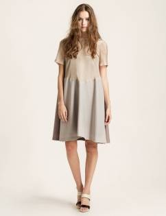 [Cahiers] A-line dress (Beige)