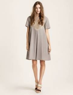 [Cahiers] A-line dress (Gray)