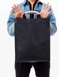 [Cozycomma] Engineer Tote_Black Stripe
