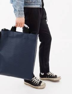 [Cozycomma] Engineer Tote_Navy Stripe
