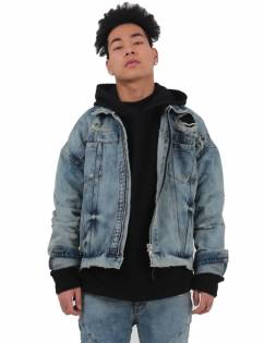[Fade6] DESTROYED TRUCKER JACKET