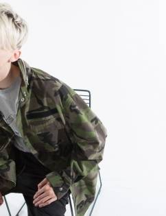 [Hupot] CAMO FIELD JACKET