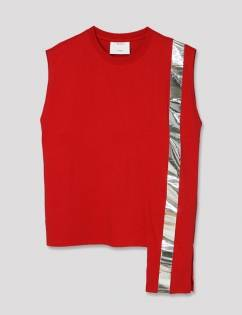 [Aticle Studio] Color Block Sleeveless Top (RED)