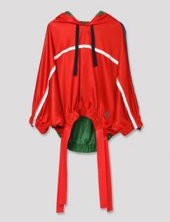 [Aticle Studio] Hoody Mesh Track Blouse (RED)