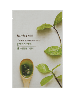 [INNISFREE] It's real squeeze Mask Sheet Green Tea 20ml x 3pcs