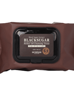 [SKINFOOD] Black Sugar Perfect Oil Cleansing Tissue 40sheets