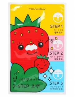 [TONYMOLY] Strawberry Seed 3-Step Nose Pack 3pc