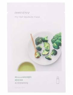 [INNISFREE] My Real Squeeze Mask [Broccoli] x 3pcs